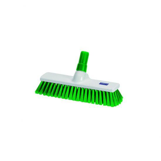 Green 40cm Medium Bristle Brush / Broom Head Heavy Duty JE1027