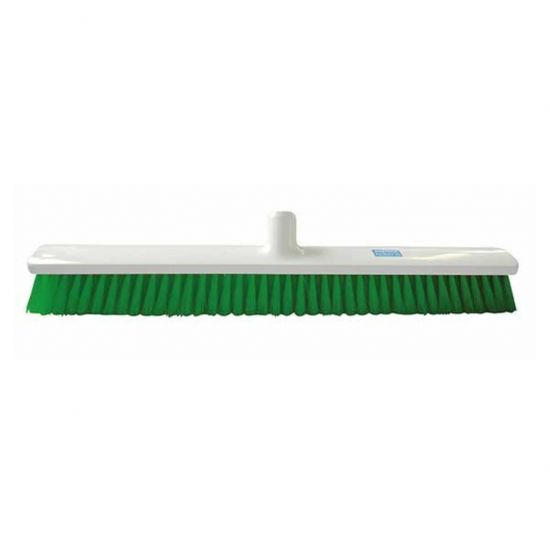 Green 60cm Hygiene Broom – Combi Bristle Soft / Medium Heavy Duty JE1029G