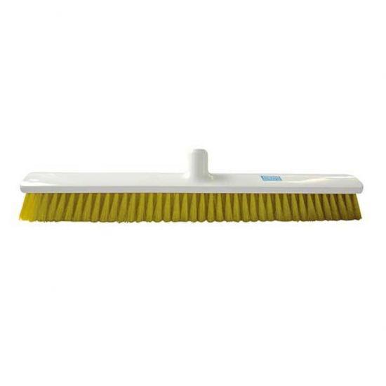 Yellow 60cm Hygiene Broom – Combi Bristle Soft / Medium Heavy Duty JE1029Y