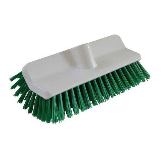 Green 24cm Hi-Low Deck Scrub Brush Head Heavy Duty JE1032