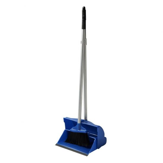 Blue Long Handled Lobby Dust Pan & Brush Set JE1041
