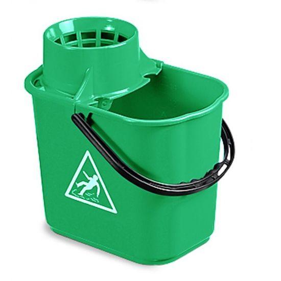 Professional Green Mop Bucket & Wringer 12lt JE2002