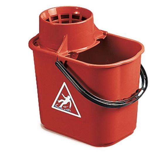 Professional Red Mop Bucket & Wringer 12lt JE2003