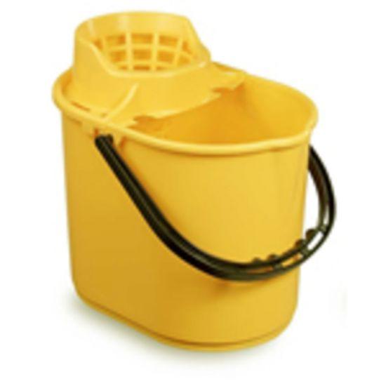 Professional Yellow Mop Bucket & Wringer 12lt JE2004