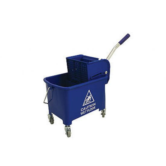 Professional Blue Kentucky Mop System With Wheels & Double Bucket 20lt JE2005