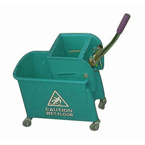 Professional Green Kentucky Mop System With Wheels & Double Bucket 20lt JE2005B