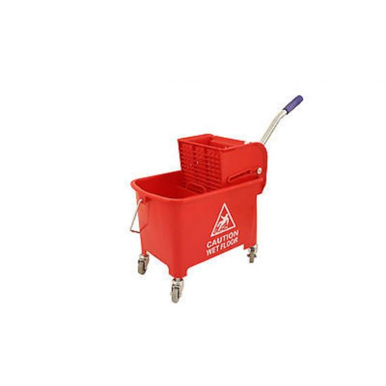 Professional Red Kentucky Mop System With Wheels & Double Bucket 20lt JE2006
