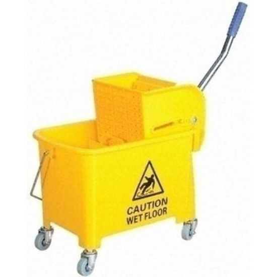 Professional Yellow Kentucky Mop System With Wheels & Double Bucket 20lt JE2006B