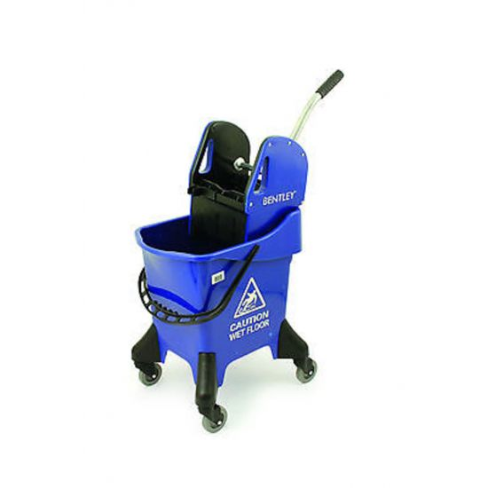 Blue Heavy Duty Kentucky Mopping System With Wheels & Handle Wringer 31lt JE2030