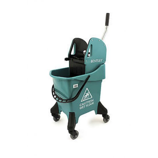 Green Heavy Duty Kentucky Mopping System With Wheels & Handle Wringer 31lt JE2031