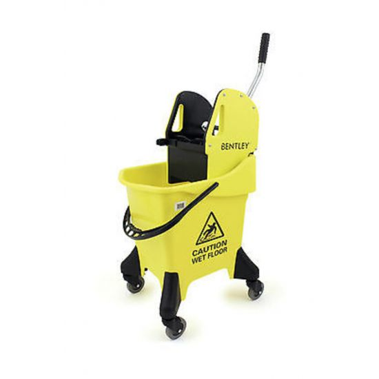 Yellow Heavy Duty Kentucky Mopping System With Wheels & Handle Wringer 31lt JE2033