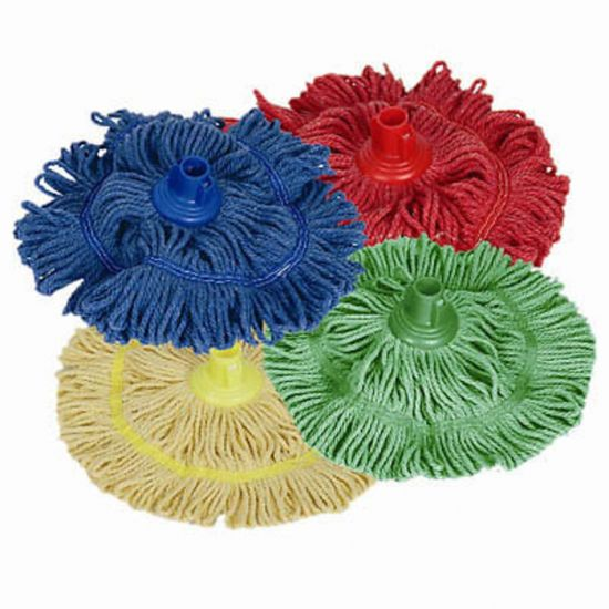 Red Biofresh Antibacterial Machine Washable Socket Mop Head JE8026
