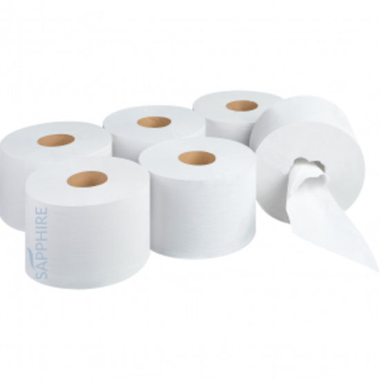 Centre Pull Toilet Roll 2ply White - Pack Of 6 PAP1022