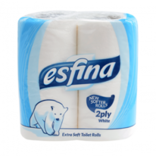 Esfina Super Soft Pure Toilet Roll 2ply White - Pack Of 40 PAP1026