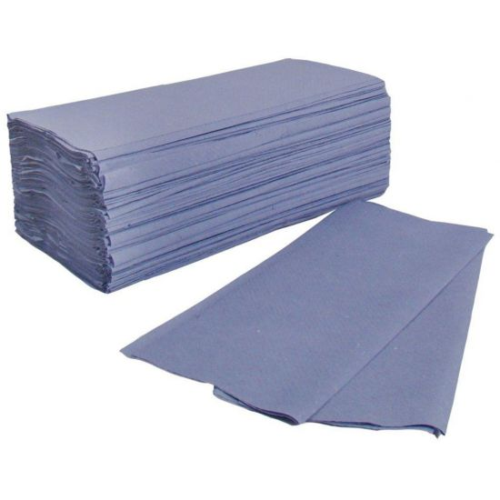 Interfold Paper Hand Towels 1ply Blue - Box Of 3600 PAP1031