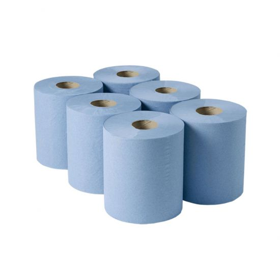 Centrefeed Roll 150m 2ply Blue - Pack Of 6 PAP2002