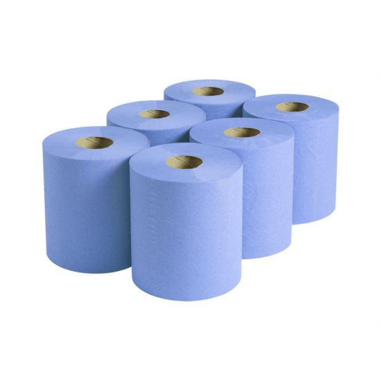 Centrefeed Roll 120m 2ply Blue - Pack Of 6 PAP2006