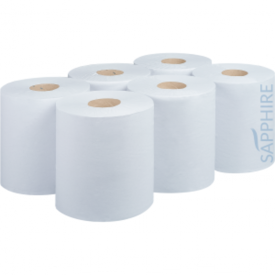 Centrefeed Roll 300m 1ply White - Pack Of 6 PAP2008