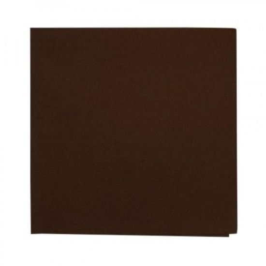 Chocolate Brown 33cm 2ply Napkins - Pack Of 125 PAP4107