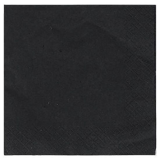 Black 33cm 2ply Napkins - Pack Of 100 PAP4111