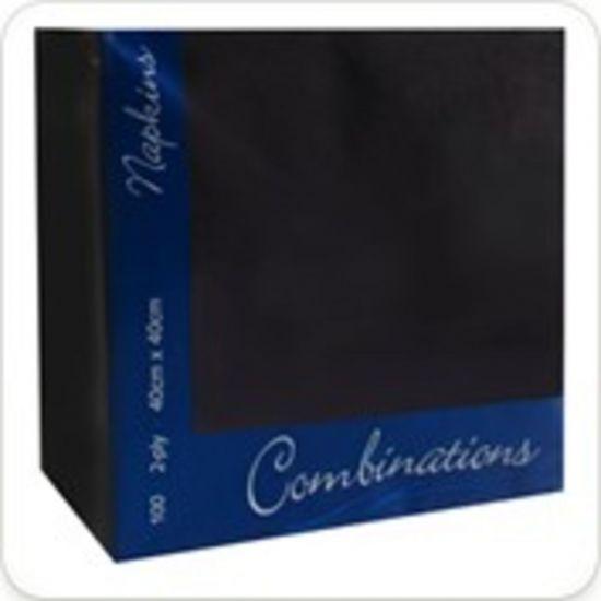 Black 40cm 2ply Napkins - Pack Of 100 PAP4126