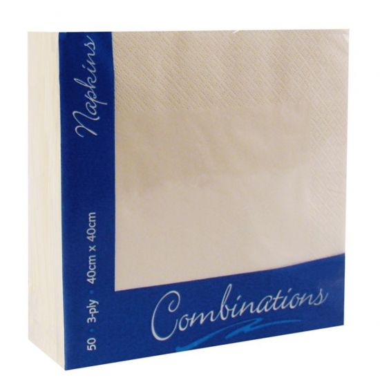 Champagne 40cm 3ply Napkins - Pack Of 100 PAP4142
