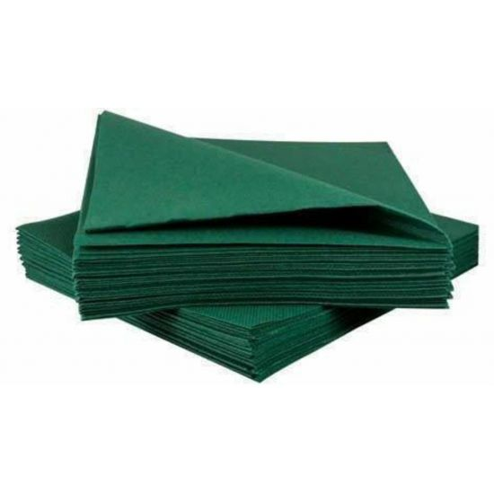 Airlaid Green 40cm Napkins - Pack Of 50 PAP4153P