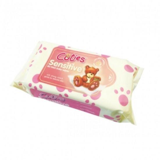 Cuties Sensitive Baby Wipes - Pack Of 80 PAP5005