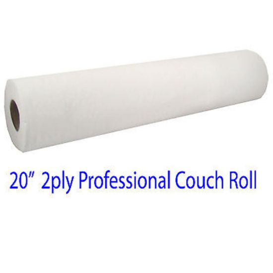 White Hygienic Paper Couch Roll 2ply 20 Inch PAP5016