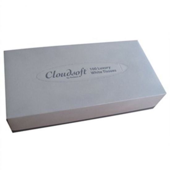 Cloudsoft 2ply Rectangular Tissues - 36 Packs Of 100 Tissues PAP6002