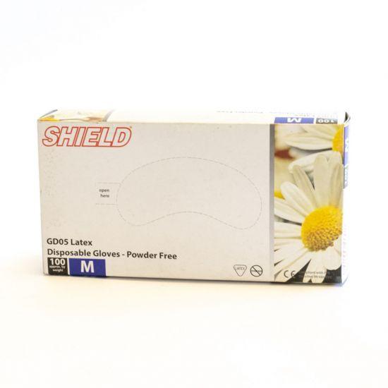Medium Latex Clear Powder Free Gloves - Box Of 100 PP1004