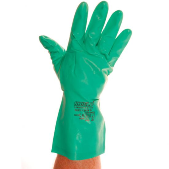 Industrial Green Nitrile Gloves - Large - Pair PP1015