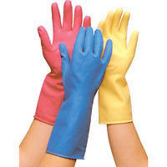 Professional Blue Household Rubber Gloves Medium - Pair PP1018