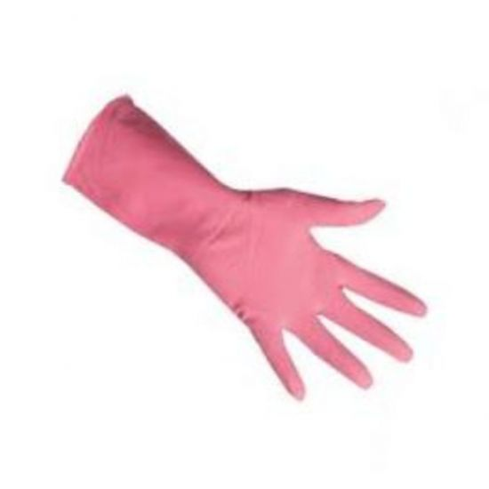 Professional Pink Household Rubber Gloves X Large - Pair PP1028