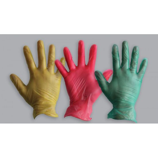 Red Vinyl Powder Free Gloves - Large - Box Of 100 PP1041
