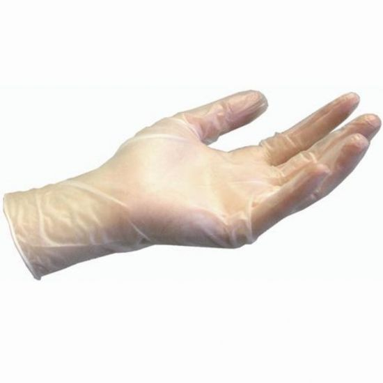 Clear Vinyl Powder Free Gloves - X Large - Box Of 100 PP1046