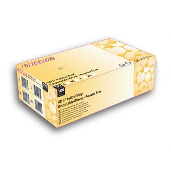 Yellow Vinyl Powder Free Gloves - Medium - Box Of 100 PP1057