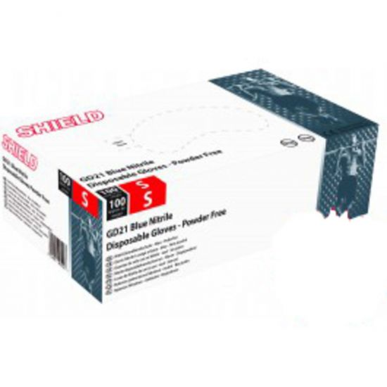 Blue Nitrile Powder Free Gloves - Small - Box Of 100 PP1067