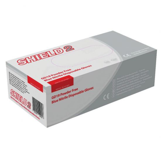 Blue Nitrile Powder Free Gloves - Medium - Box Of 100 PP1068