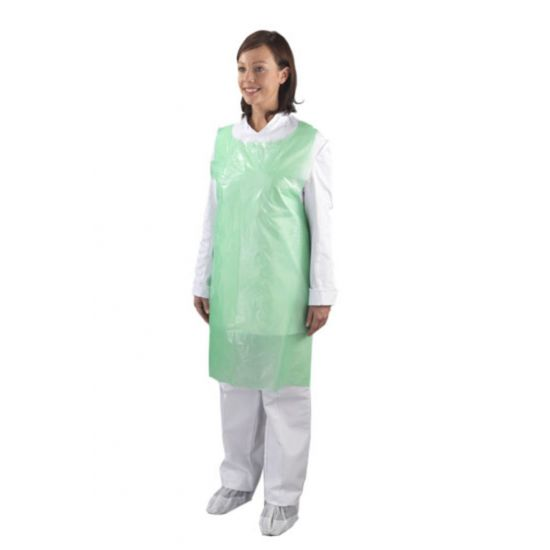 Heavy Duty Green Flat Pack Aprons - Pack Of 100 PP2000