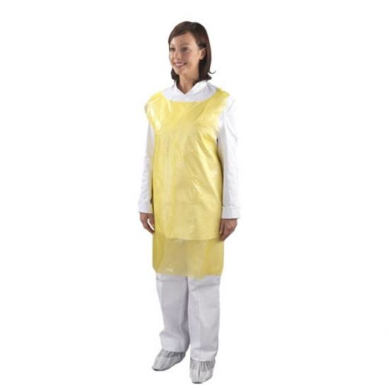 Heavy Duty Yellow Flat Pack Aprons - Pack Of 100 PP2000Y