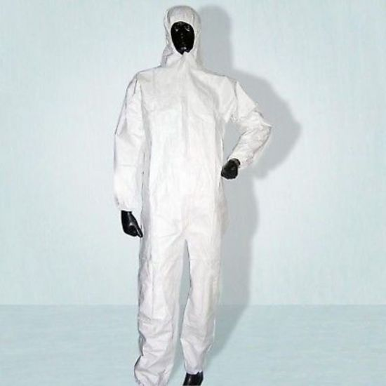 Non Woven White Disposable Coverall Suit - Large PP2021
