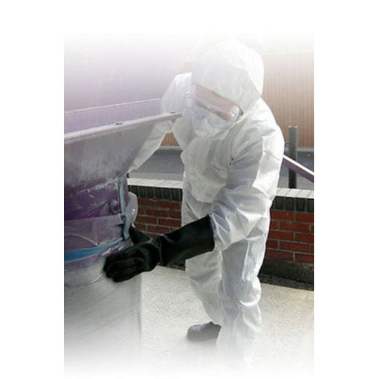 Non-Woven White Disposable Category III SMS Hazard Protective Overall - Large PP2024