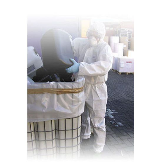 Non-Woven White Disposable Category III Laminate Hazard Protective Overall - Large PP2027