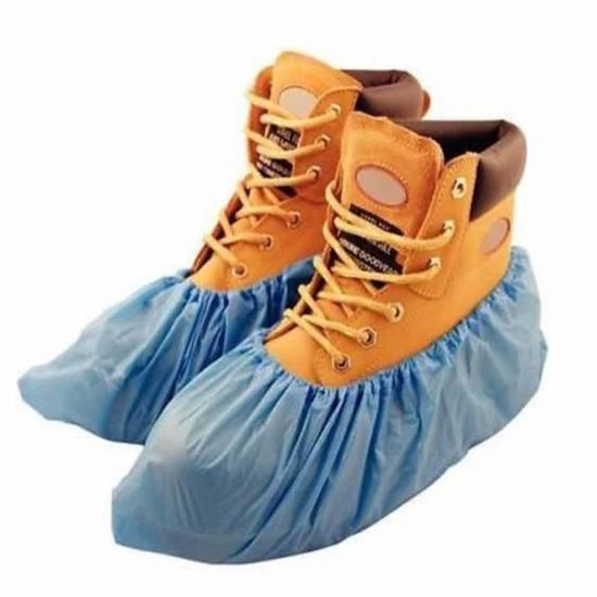 Blue Disposable CPE Over Shoes 16 Inch - Pack Of 100 PP2031