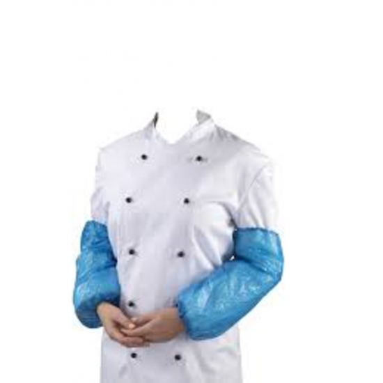 Blue Disposable Polythene Over Sleeves - Pack Of 100 PP2032