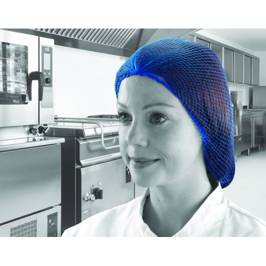 Blue Disposable Hairnets - Pack Of 48 PP2035