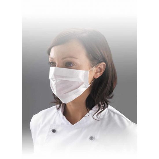 White Disposable 2ply Paper Face Masks - Pack Of 100 PP4012