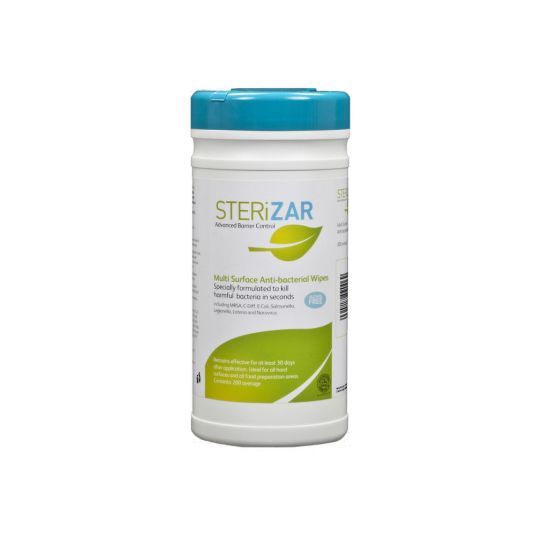 Sterizar Hard Surface Wipes In Re-Sealable Tub - 200 Wipes SP3071