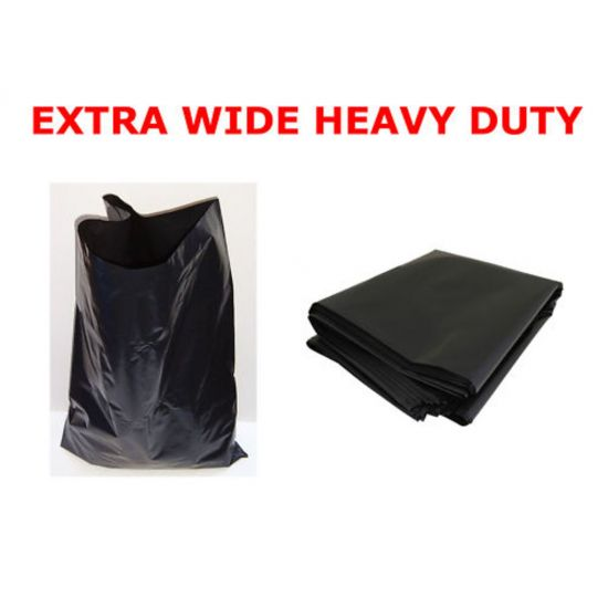 Black Heavy Duty Wide 20x34x39 Inch Bin Bags - Box Of 200 WM1009